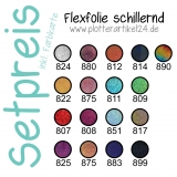 Flexfolie schillernd Set