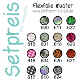 Flexfolie muster Set