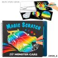 Monster Cars Magic Scatch Book